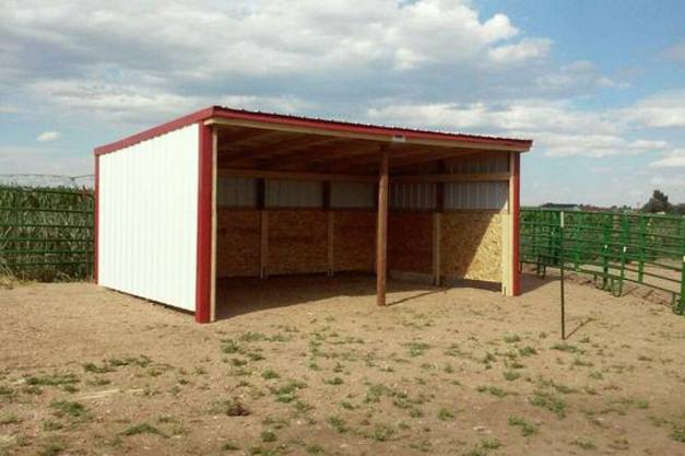 run-in sheds, storage sheds, hay storage, horse shed, sheds