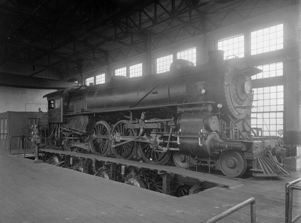 K29 steam engine No. 3395, test plant, right side at Altoona, January 17, 1912.