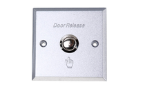 Metal button switch for door opener