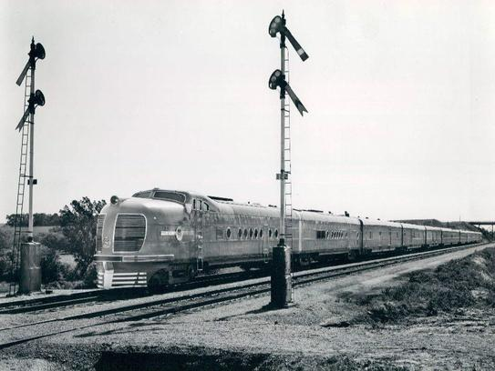 The City of Denver Union Pacific Streamliner, circa 1940.