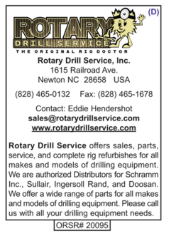 Drilling Equipment Sales, Rotary Drill Service