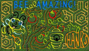 Picture of Corn Maze Design. For 2018, it is A Decade of Donuts