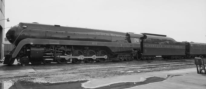 Norfolk and Western J Class No. 611, circa 1992.