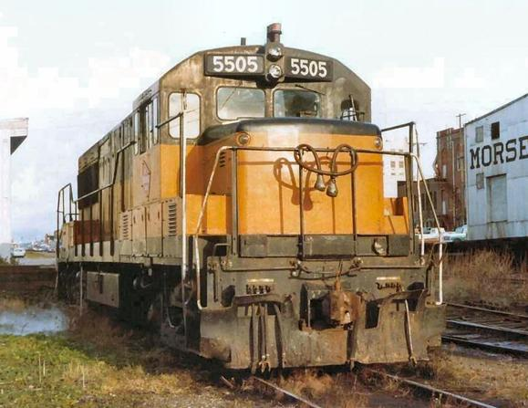 Milwaukee Road U28B No. 5505.