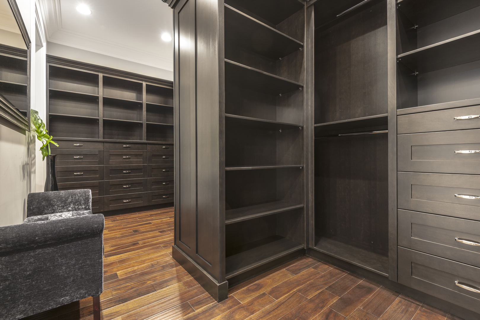 Luxury Master Closets luxury master bedroom closet | scott arthur millwork & cabinetry