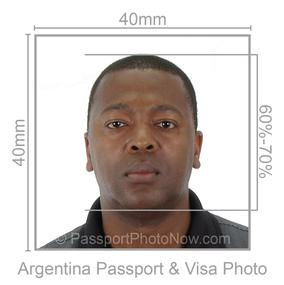 Argentina Passport and Visa Photo
