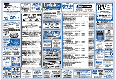 Coos Bay City Map Front