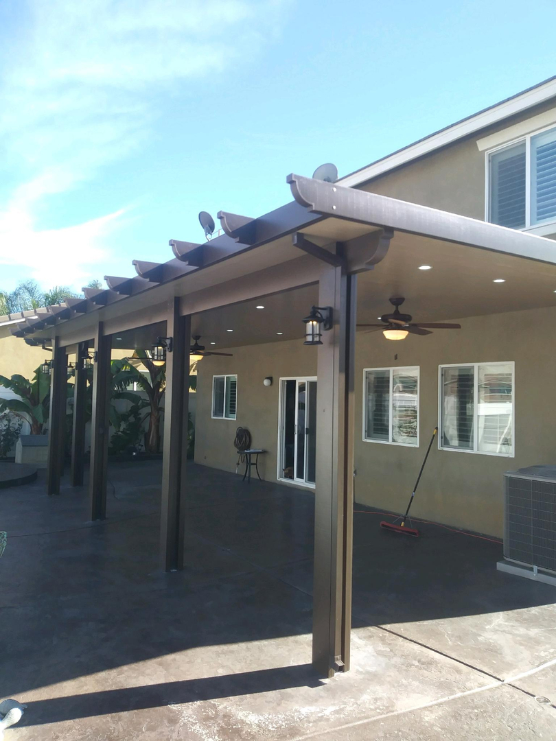 Aluminum Patio Covers, Seamless Rain Gutters, Specials, Showroom
