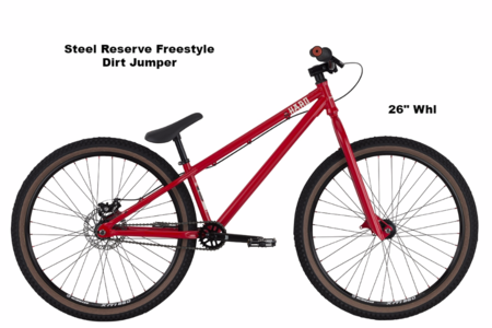 Steel reserve freestyle dirt jumper