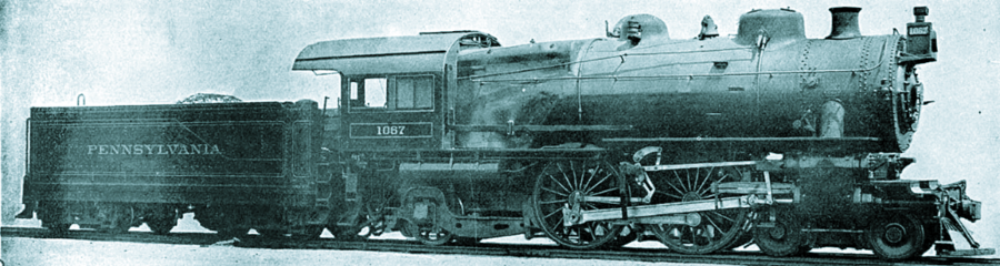Pennsylvania Railroad E6 4-4-2 Atlantic Steam Locomotive