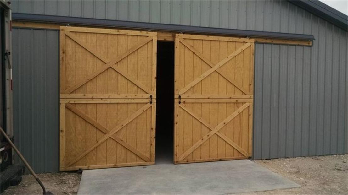 Dutch doors gates for Pole barn sliding door plans