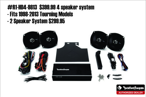 Amp and Speaker Kit for 98-13 Harley Davidson | Motorcycle Audio Installation | Autosport Plus Canton Ohio