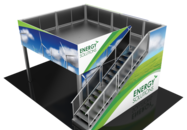 Double Deck trade show booths available for rental.