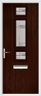 3 Square Strip Composite Door regal corenet glass