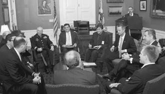 Maryland tax attorney Charles Dillon meeting with the Governor of Maryland, the Prime Minster of Montenegro, and other senior government officials from the US government and the State of Maryland