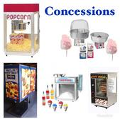 Concession/Food Machines, Cotton Candy, Snow Machine, Popcorn Machine, Nacho Machine, Hotdog Machine