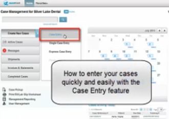 Case entry tutorial