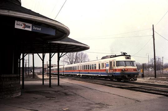The Blue Water Limited at Durand Union Station, April 21, 1979.