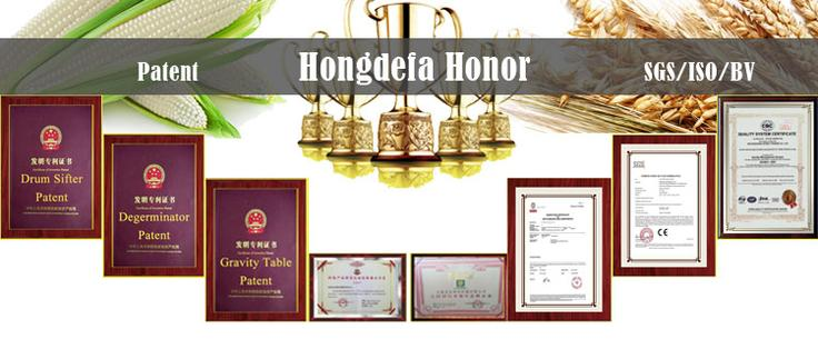hongdefa certificates for maize milling machines