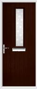 1 Square Composite Door bubbles glass