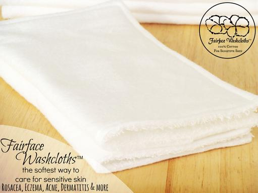 Original Fairface Washcloths with soft flannel and absorbent terry cloth
