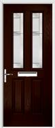 2 panel 2 square composite door regal corenet glass