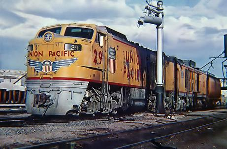 UP Gas Turbine locomotive No. 29, December 1969. Photo by Roger Puta.