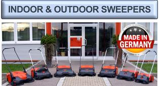 INDOOR & OUTDOOR Wide Area Sweepers