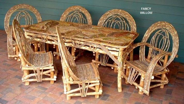 Western Ranch Dining Patio Furniture Outdoor Furniture
