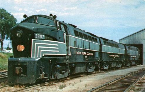 New York Central Baldwin sharknose diesel locomotive.