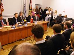 International press conference with Maryland Tax Attorney Charles Dillon and US Ambassador