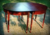 Dining End Table w/ Inlay