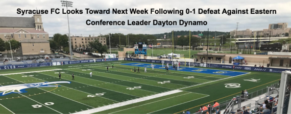 Syracuse FC Looks Toward Next Week Following 0-1 Defeat Against Eastern Conference Leader Dayton Dynamo
