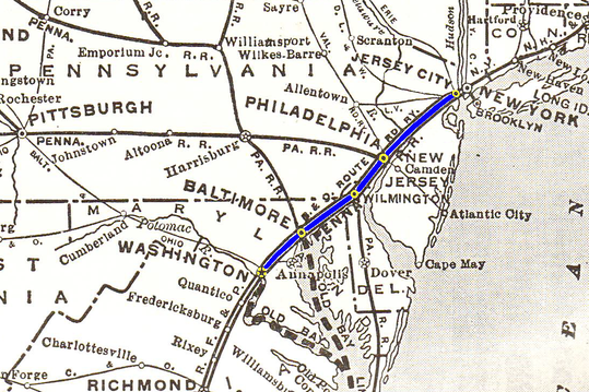 Route of the Marylander.