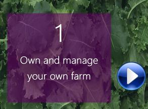 Own and operate a vertical indoor farm