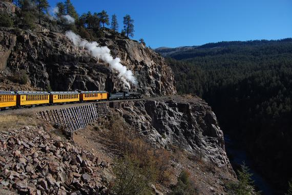 On the Highline above the Animas Canyon on October 25, 2012.