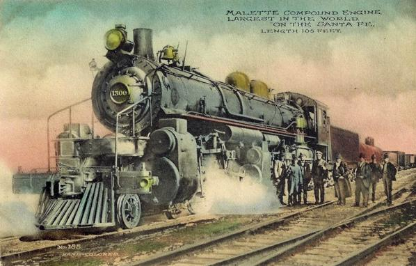 The Santa Fe 3000 Articulated Compound Locomotive was once the largest locomotive in the world.