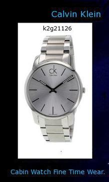 Watch Information Brand, Seller, or Collection Name Calvin Klein Model number K2G21126 Part Number K2G21126 Model Year 2011 Item Shape Round/Oval Dial window material type Mineral Case material Stainless Steel Case diameter 43 millimeters Case Thickness 7 millimeters Band Material Metal Band width 20 Dial color Silver/Steel Special features Water-Resistant Movement Swiss Quartz,calvin klein canada