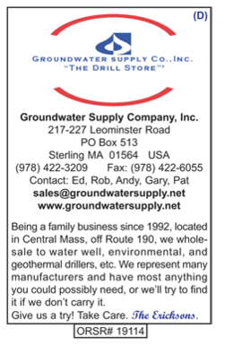 Drilling Supplies, Groundwater Supply