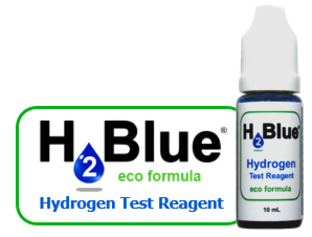 H2Blue Eco Bottle and Logo