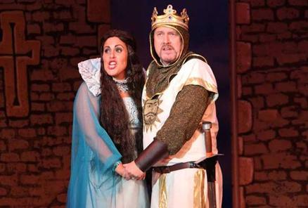 The Lady of the Lake (Ros Jones-Griffiths) and King Arthur (Mark Cooper)