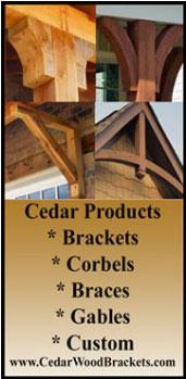 Cedar Corbels
