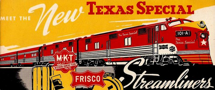 Booklet promoting the new streamlined Texas Special, circa 1948.