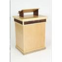Contemporary lectern with bible stand made from black walnut and maple
