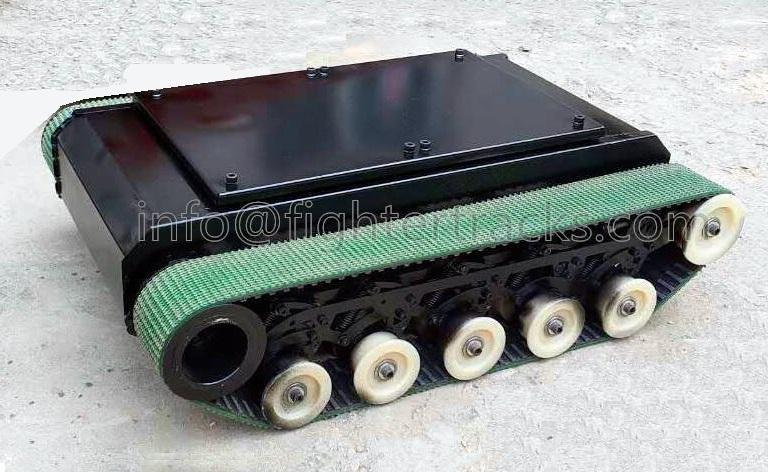 small robot chassis built with small robot tracks