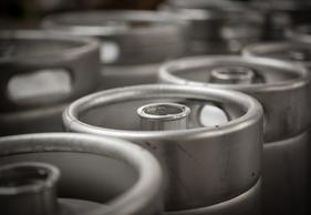 Image of beer kegs