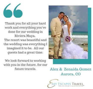 Beach Destination Wedding by Easy Escapes Travel, Riviera Maya, Mexico