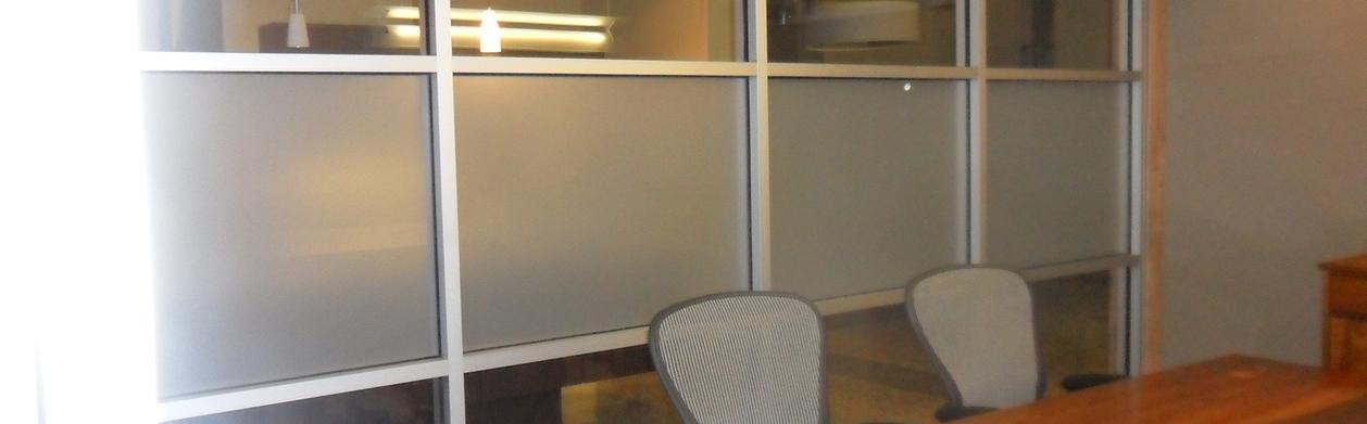 Decorative privacy for conference room