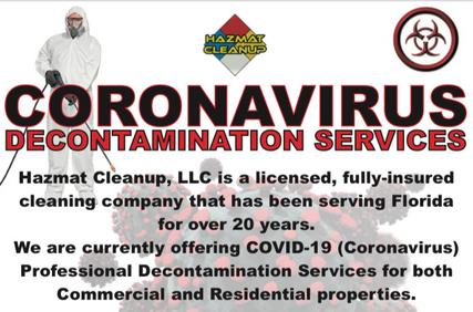 coronavirus decontamination services covid-19 disinfecting