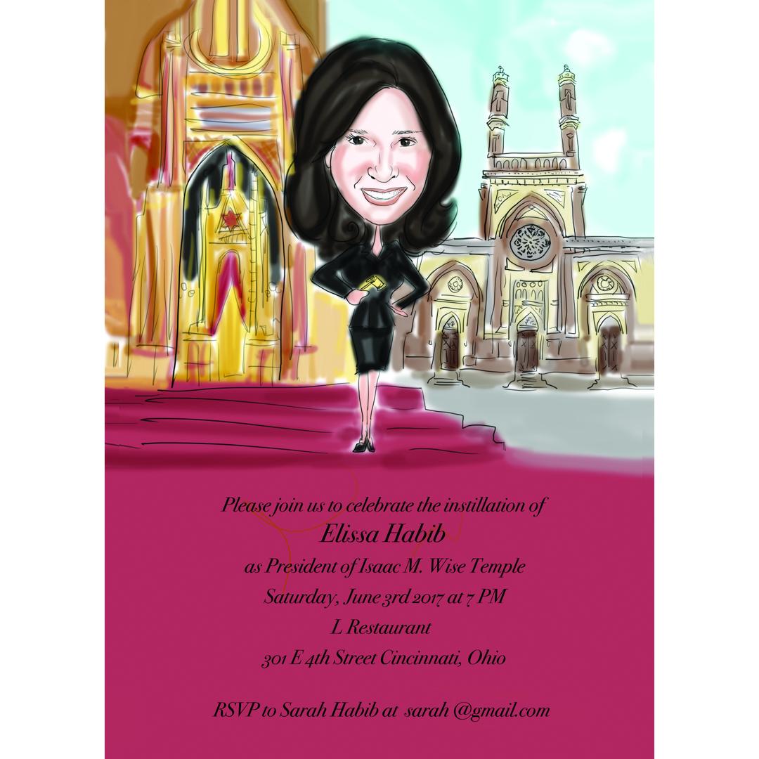 Custom Caricature Party Invitations| Caricature Birthday Invitations ...
